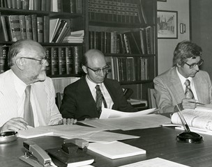 Signing the documents which make Concordia official.