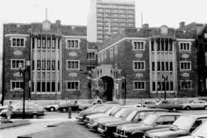 Bishop Court before the construction of the J.W. McConnell Building