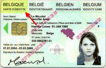 Accepted Belgium ID Card