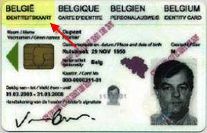 Not Accepted Belgium ID Card