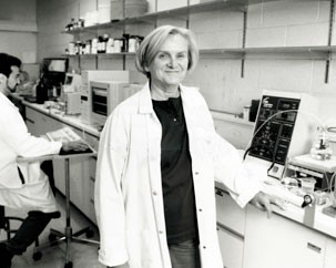 Co-founder Jane Stewart at work in CSBN lab