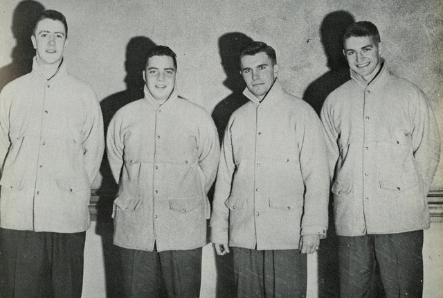 Loyola College's 1957 Varsity Curling team