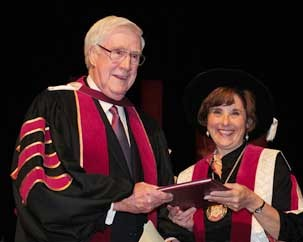 Brian O'Neill Gallery receives his honorary doctorate in 2010.