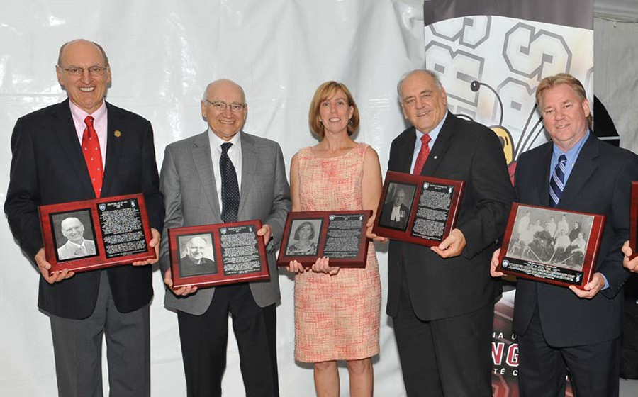 George Lengvari, Jr. is inducted into Concordia's Sports Hall of Fame in 2011.