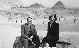 Vincent and Olga Diniacopoulos in Egypt