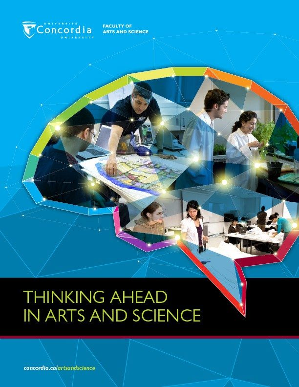 Thinking ahead in Arts and Science