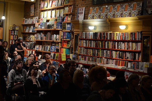 Reading at Drawn and Quarterly Bookstore, Mile End, Montreal.