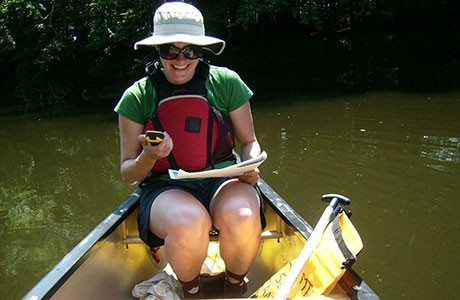 research in a canoe