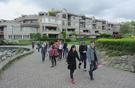 Students on a field trip in Vancouver