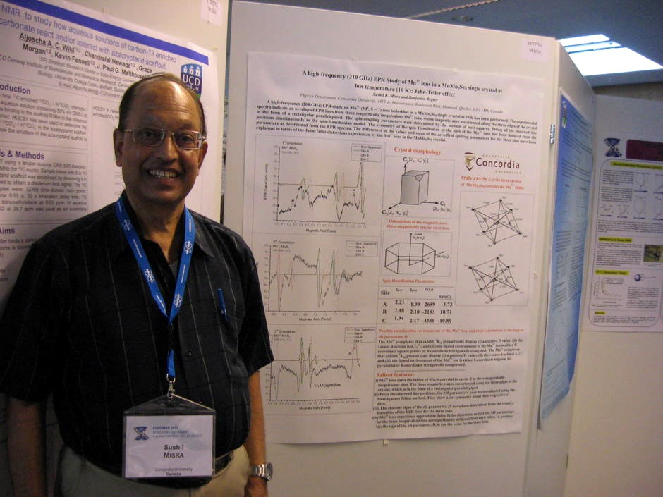 Dr. Misra at EUROMAR in Frankfurt, Germany, on the 26th of June 2011