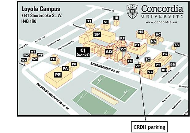 concordia university campus map Contact concordia university campus map