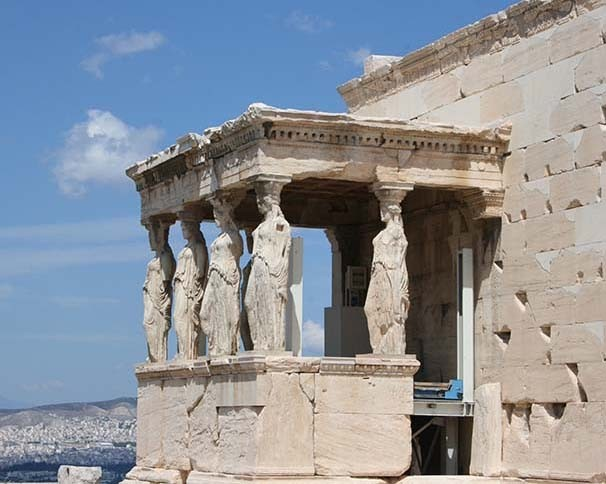 Erechtheion, Athens, Greece. Photo by Carly Daniel-Hughes, Faculty member