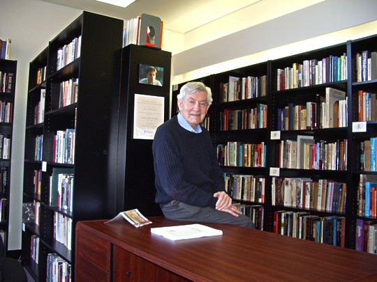 Professor Mervin Butovsky in the Avriel Butovsky Research Library