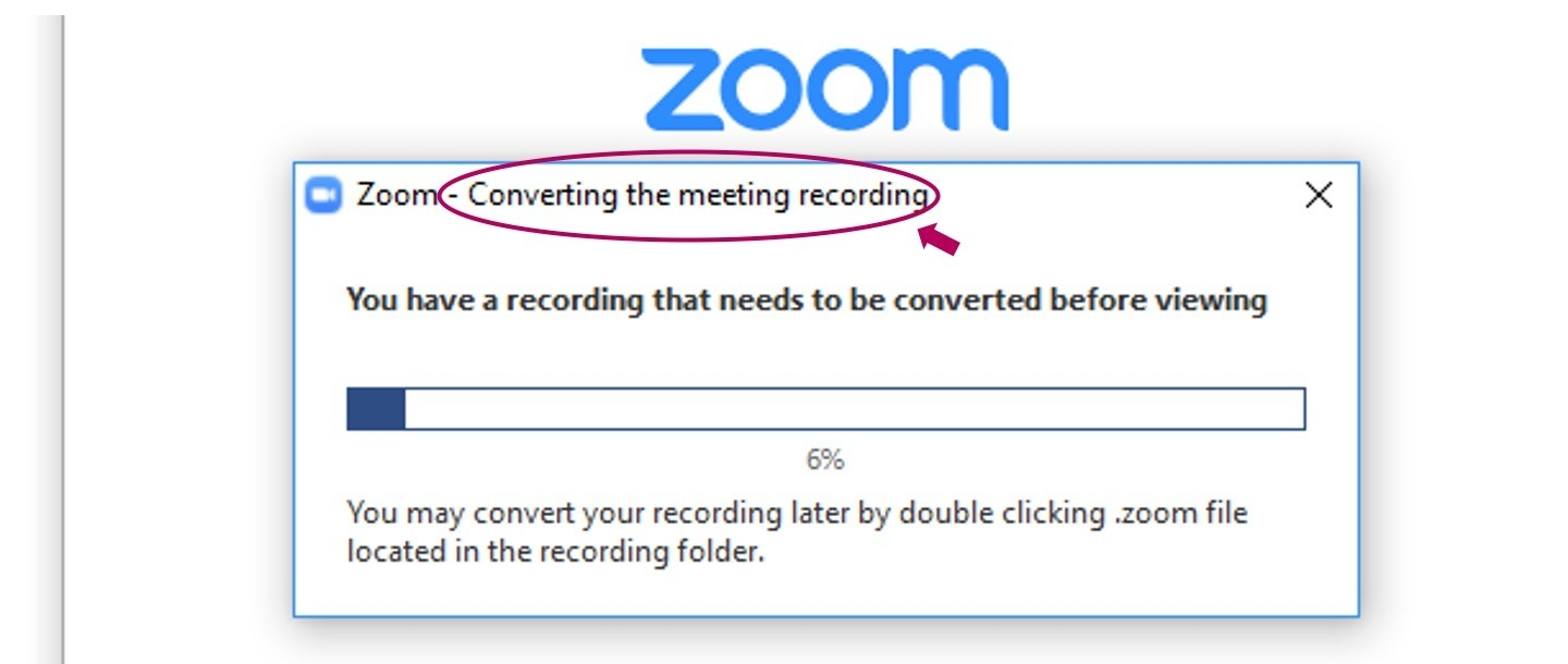 Zoom convert meeting recording