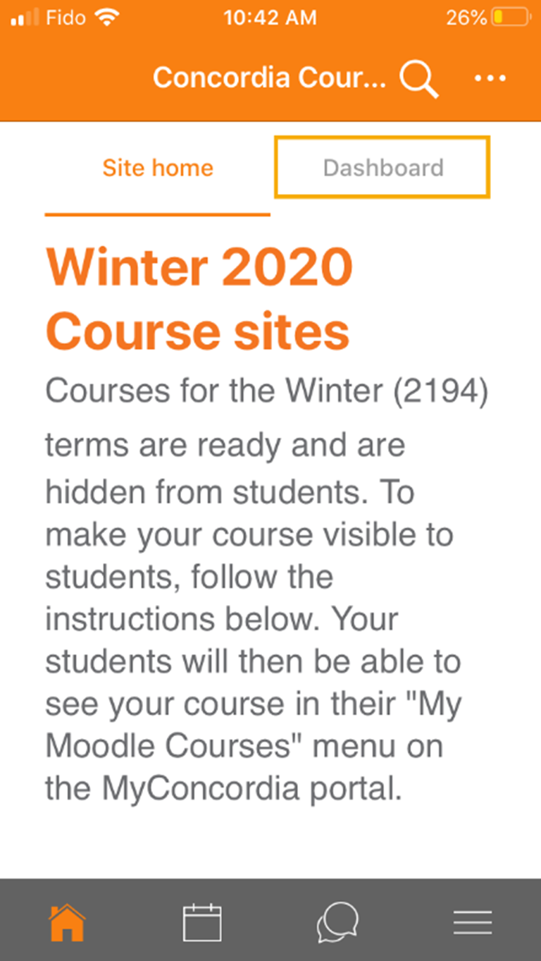Your Moodle courses