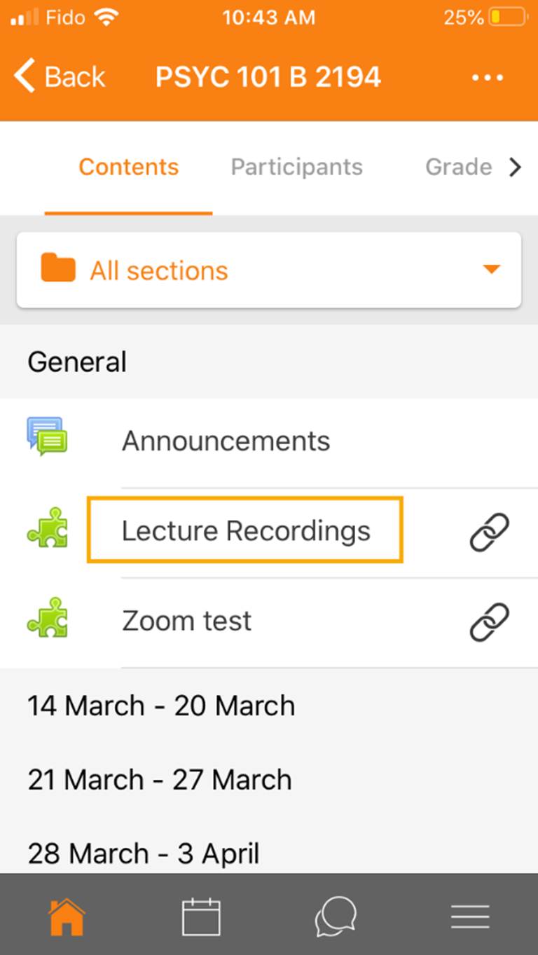 Lecture recordings