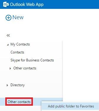 How to access public folders through OWA