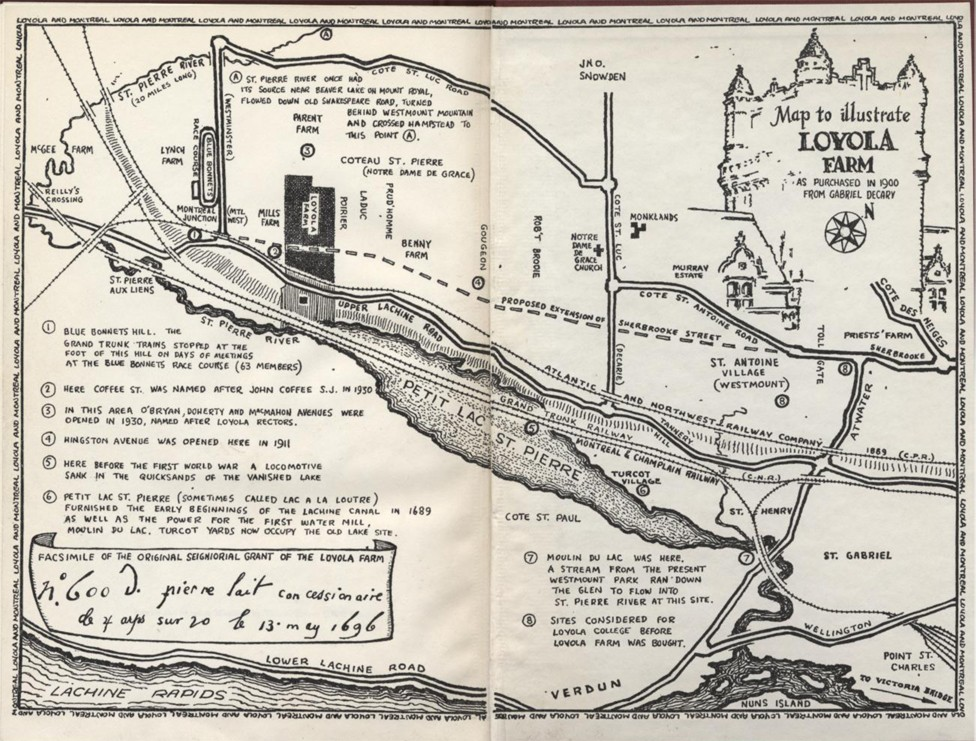 Map to Illustrate Loyola Farm