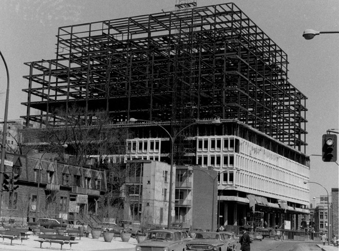 Hall Building under construction