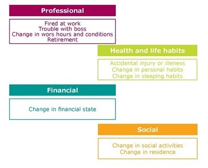 Figure 3. Significant Life domains identified in 2010 that affected the severity of problemg ambling on year later (2011)