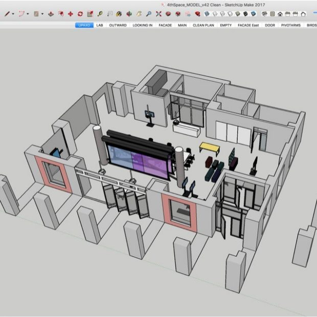 Model of 4thSpace with Furniture Sketchup v2017
