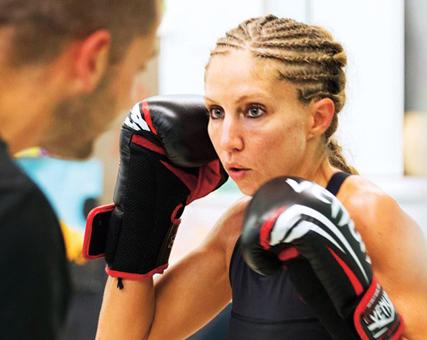 In the ring with kickboxing champ and oncology advisor Sherin Al-Safadi