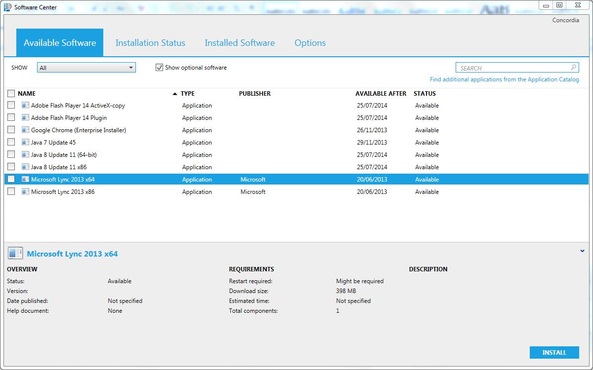 Microsoft lync for Windows programs