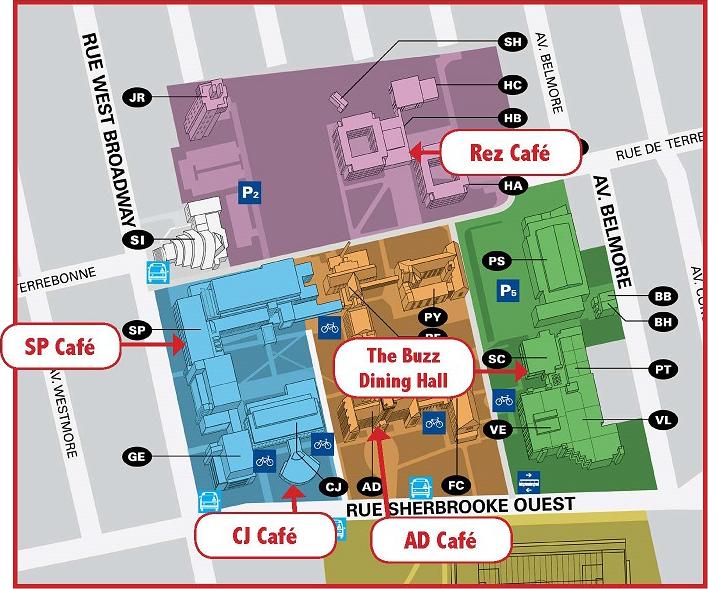 concordia university campus map Places To Eat concordia university campus map