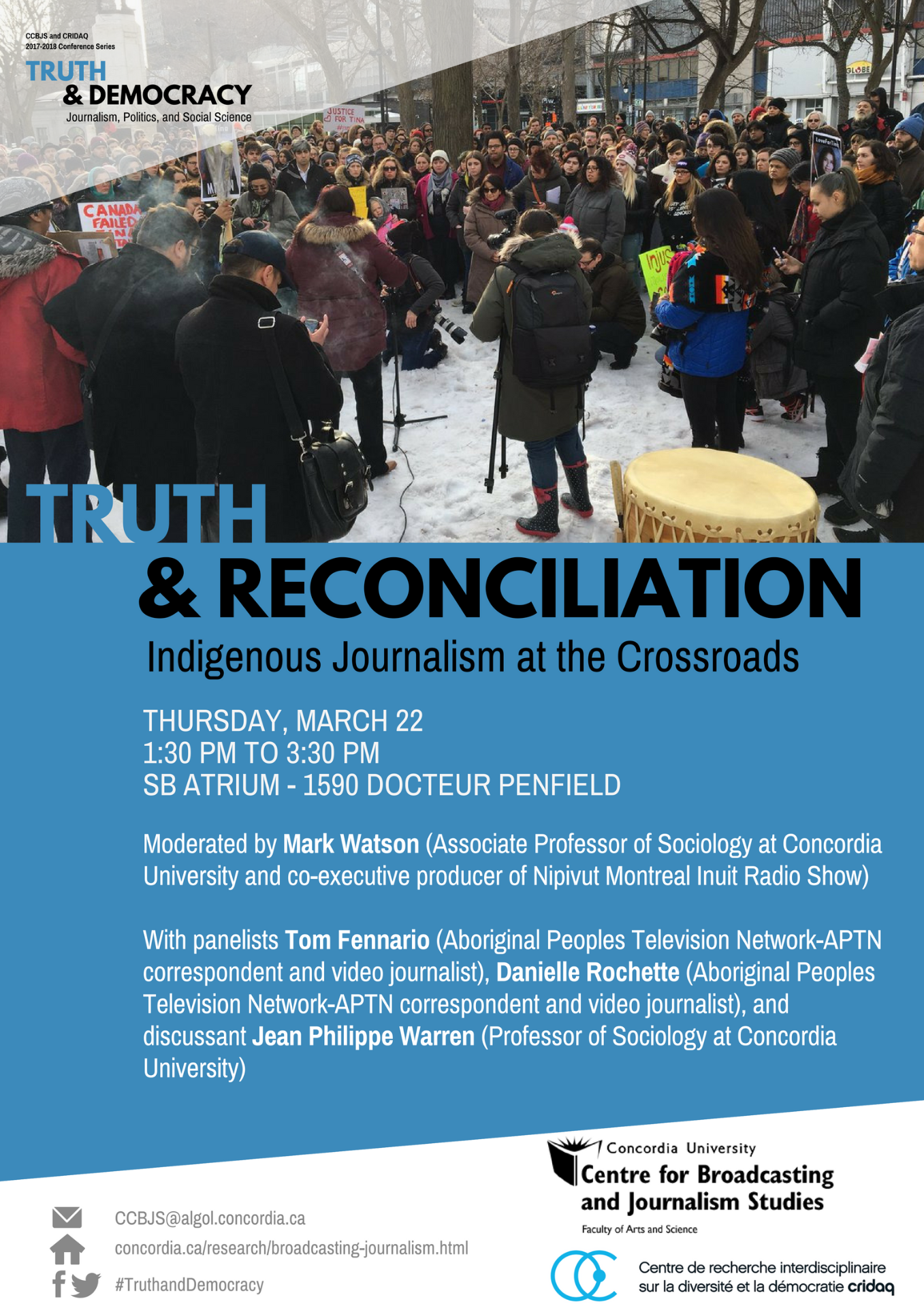 Truth and reconciliation TRUTH & DEMOCRACY Poster Final