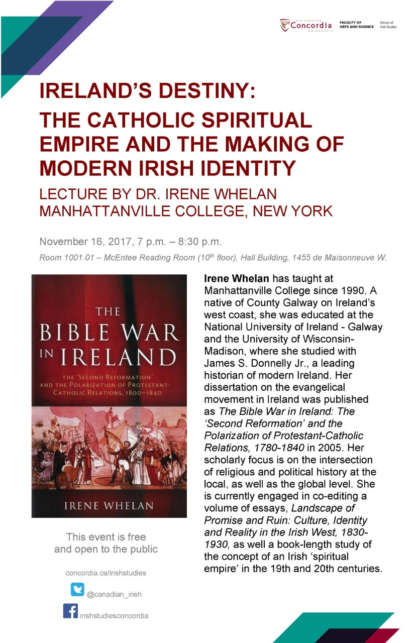 Lecture by Irene Whelan 2017