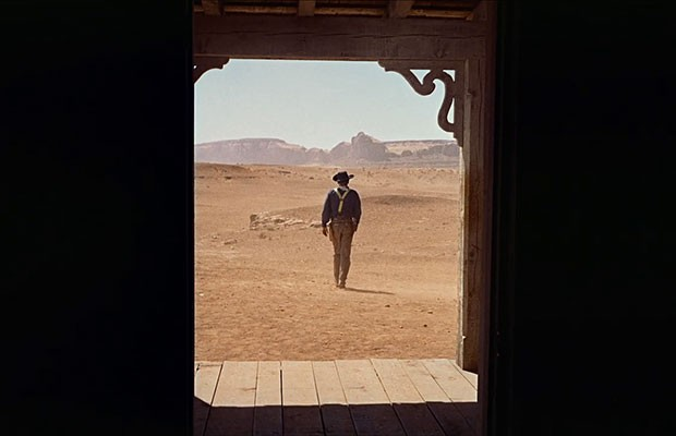Screen grab from The Searchers, John Ford, 1956.