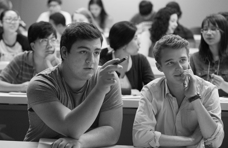 International students in the classroom
