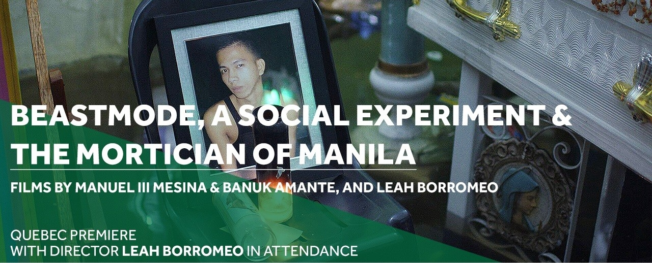 Cinema Politica presents the Quebec premieres of Beastmode and The Mortician of Manila with director Leah Borromeo
