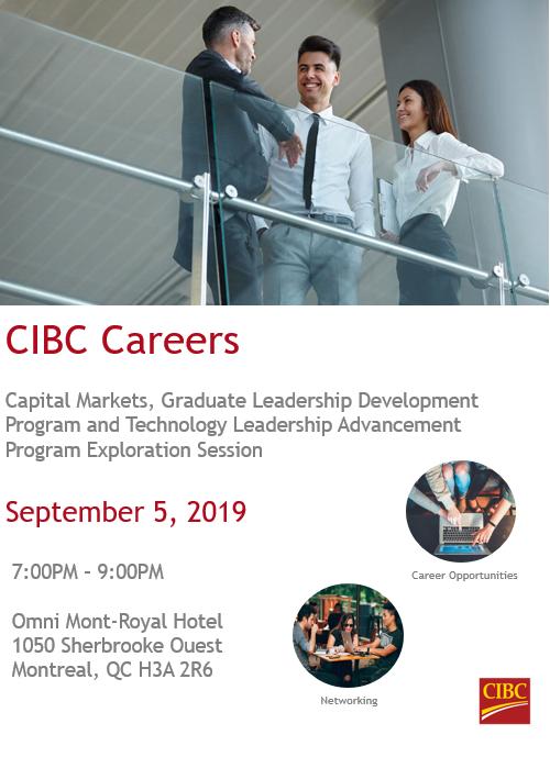CIBC Capital Markets and Career Programs Information Night