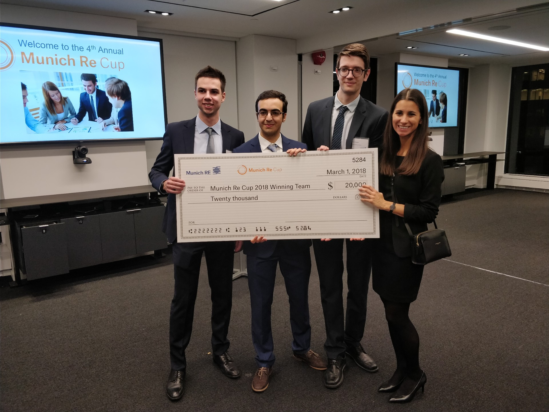 Math / Stats wins big in national actuarial case competition