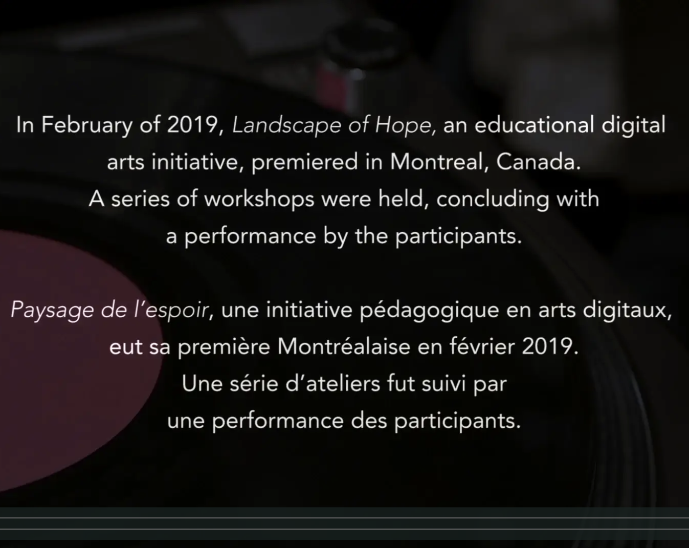 Explainer Video for Landscape of Hope, an Educational Digital Arts Initiative