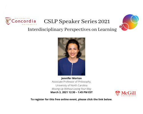 CSLP 2021 Speaker Series Continues This Week With Jennifer Morton