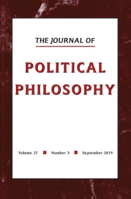 The Journal of Political Philosophy cover