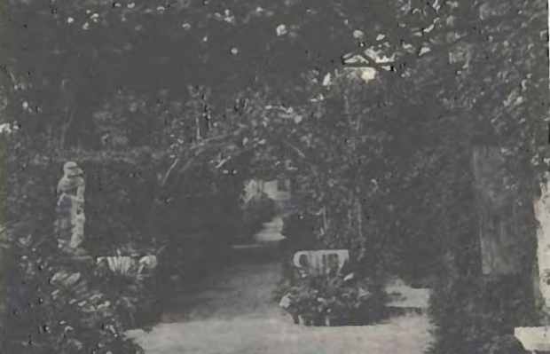 One of the source images for the series, from the book, A Garden in Venice, by Frederick Eden (1903).