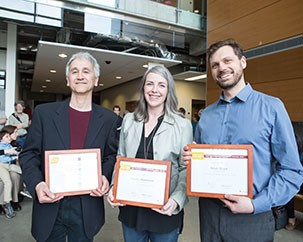 Three Fine Arts instructors earn Distinguished Teaching Awards