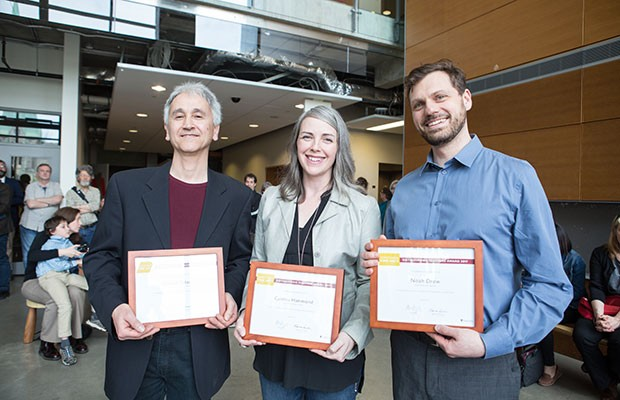 Donato Totaro, Cynthia Hammond and Noah Drew received Distinguished Teaching Awards