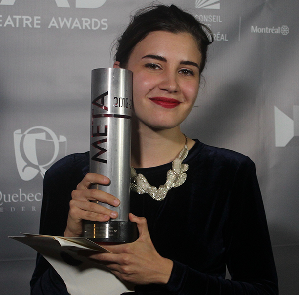 Sophie El-Assaad (BFA'15) received two METAs for her costume design work. Photo by Orla Cunningham