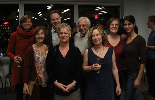 The National Centre for Dance Therapy (NCDT) research group, a division of les grands division of Les Grands Ballets Canadiens de Montréal. First row, from left to right: Bonnie Swaine, Guylaine Vaillancourt, and Yehudit Silverman. Second row, from left to right: Michèle Deschamps, Christian Senechal, Pierre Band, Frédérique Poncet, and Alida Esmail. Photo by Dougy Hérard.