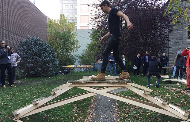 Concordia students in Wood At Work Student Design Competition, 2017