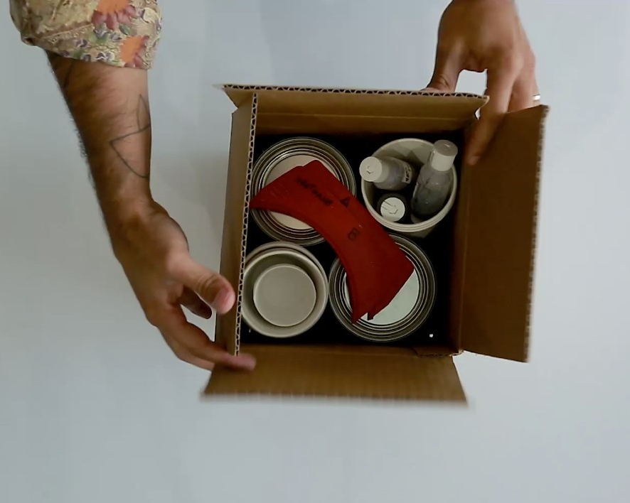 Video: Unboxing take-home sculpture kits