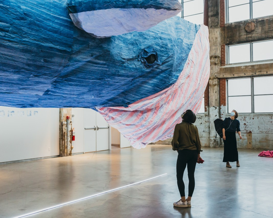 Concordia professor's artwork examines the ecology of whales on the St Lawrence river