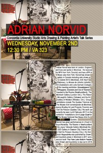 Painting and Drawing Series Talks: ADRIAN NORVID