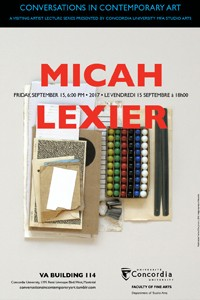 CICA Presents Micah Lexier - September 15th, 6pm VA-114