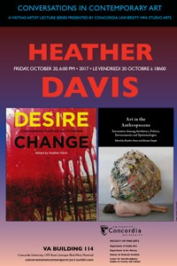 CICA Presents Heather Davis - Friday, October 20 at 6pm, VA-114