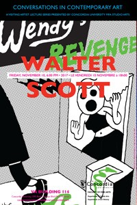 CICA Presents Walter Scott - Friday, November 10 at 6pm, VA-114